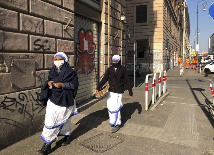 Roma, una ciudad fantasma en el país con más muertos en el mundo por coronavirus.