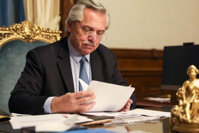 Alberto Fernández difundió una carta