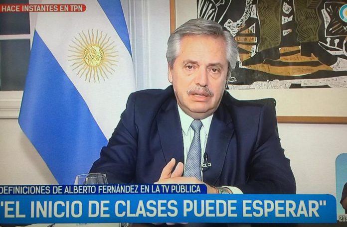 """Alberto Fernández: """"No me urge el inicio de clases"""""""