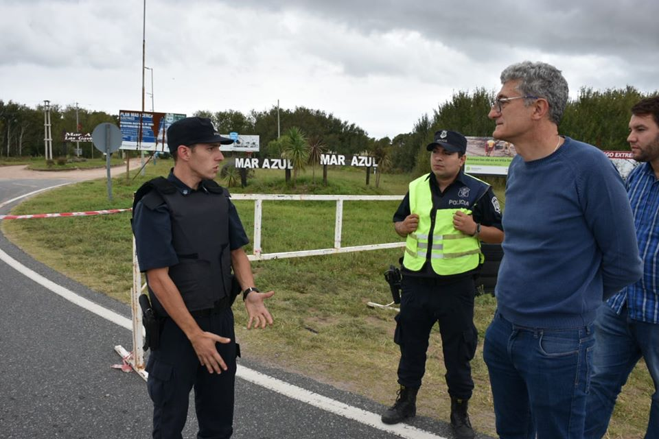 Gustavo Barrera en los operativos para impedir el ingreso de turistas