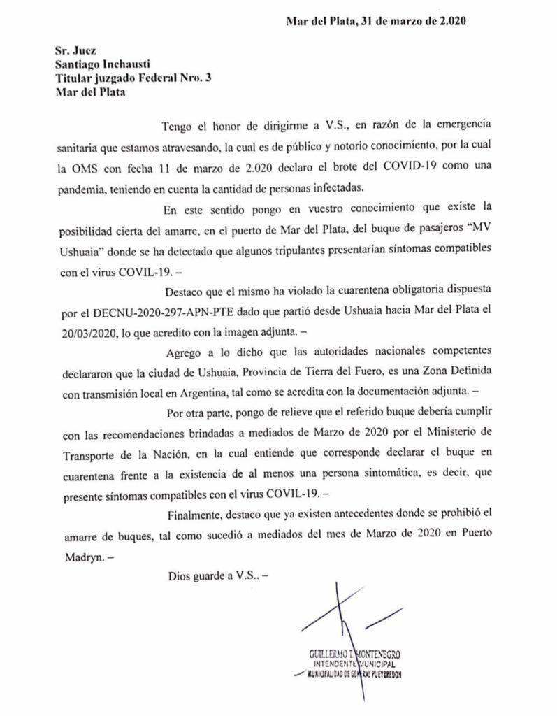 Mar del Plata busca evitar que un crucero de Ushuaia amarre en su puerto