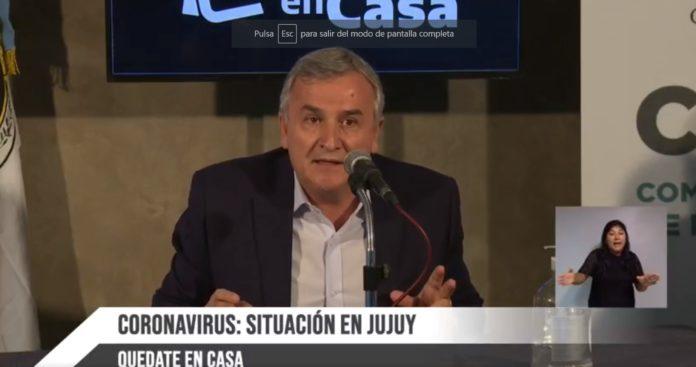 """Gerardo Morales advirtió que """"Buenos Aires y el Conurbano van a explotar"""" de casos de coronavirus"""