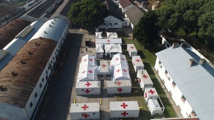 Instalan en Campo de Mayo un hospital de campaña del Ejército