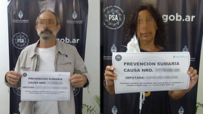 Hicieron un escándalo en Ezeiza por negarse a la cuarentena y quedaron detenidos