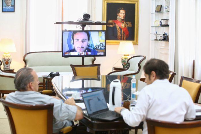 Kicillof encabezó una nueva reunión con intendentes vía teleconferencia