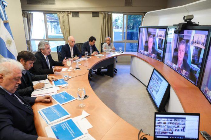 Junto a gobernadores, Alberto Fernández define cómo sigue la cuarentena