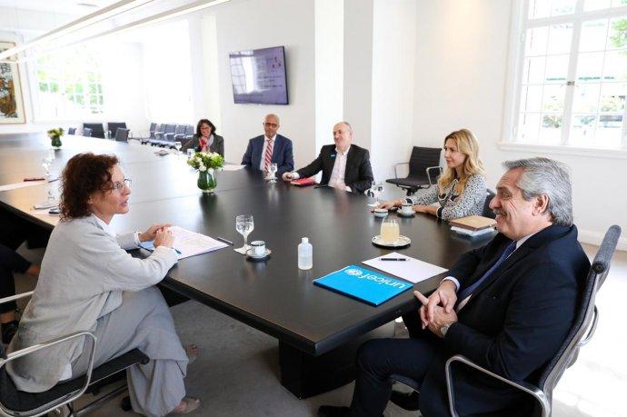 El presidente Alberto Fernández recibió a representantes de Unicef