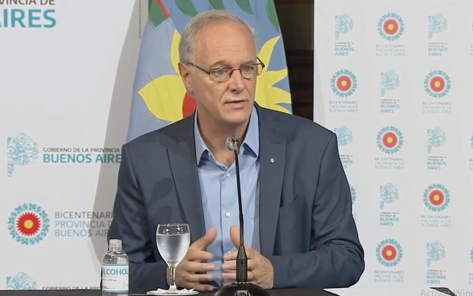 El ministro de Salud bonaerense, Daniel Gollan