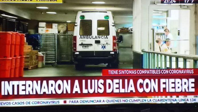 Luis D'Elía fue internado ayer en el Sanatorio Anchorena.