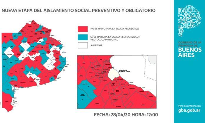 Se bajó uno y sólo 36 municipios permiten las salidas recreativas