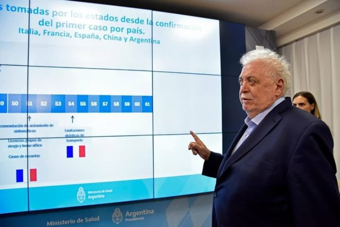 El ministro de Salud nacional, Ginés González García