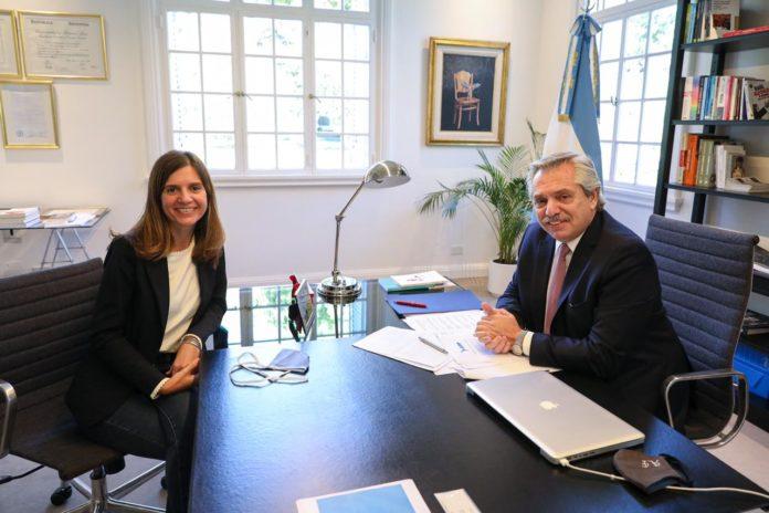 Raverta fue recibida esta mañana por el presidente Alberto Fernández. (Presidencia)