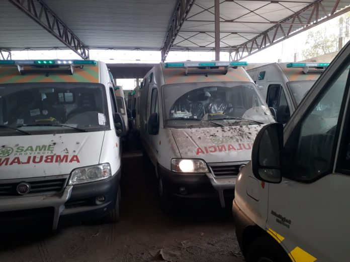 Las ambulancias encontradas tiempo atrás por las