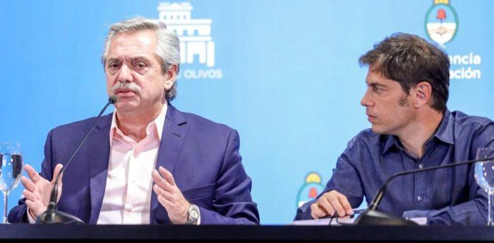 Alberto Fernández y Axel Kicillof. (Archivo)