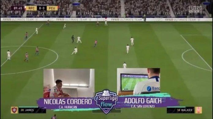 Futbolistas argentinos juegan al FIFA 20 a través de TNT Sports