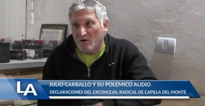 El dirigente radical Julio Carballo habla con Canal 11 de La Cumbre.