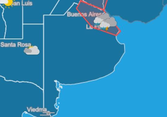 Lluvias, fuertes vientos y cortes de luz en varios distritos bonaerenses