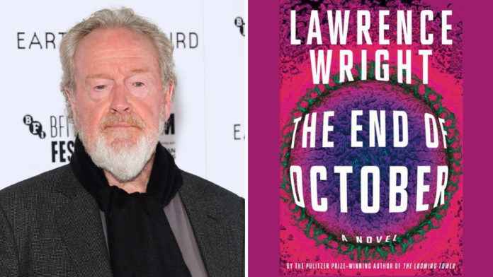 Ridley Scott producirá la adaptación 'The End of October', a dos días de publicarse la novela de Lawrence Wright sobre una pandemia global