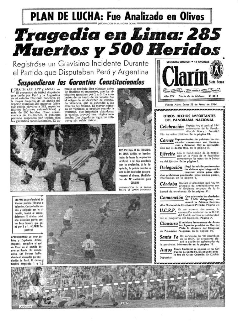 Clarín, en Argentina, reflejaba el horror al día siguiente de la masacre.