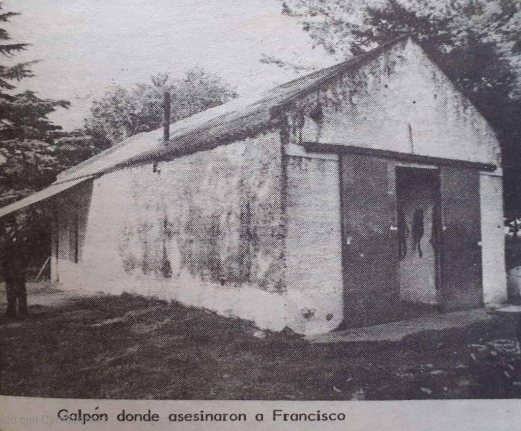 El galpón donde hallaron al linyera.. y a los gatos. (Gentileza Biblioteca Municiipal de General Villegas)