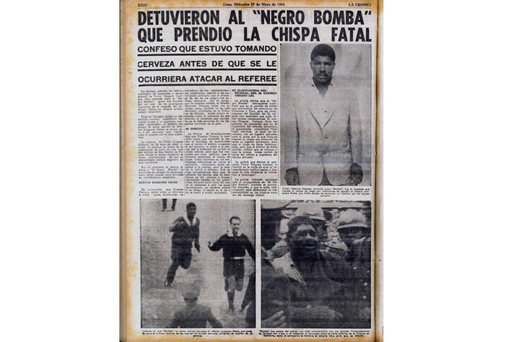 """La detención de Vásquez Campos, """"El Negro Bomba""""."""