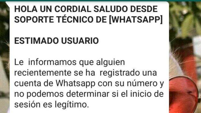 Cuidado si recibes este mensaje de WhatsApp: te pueden robar la cuenta