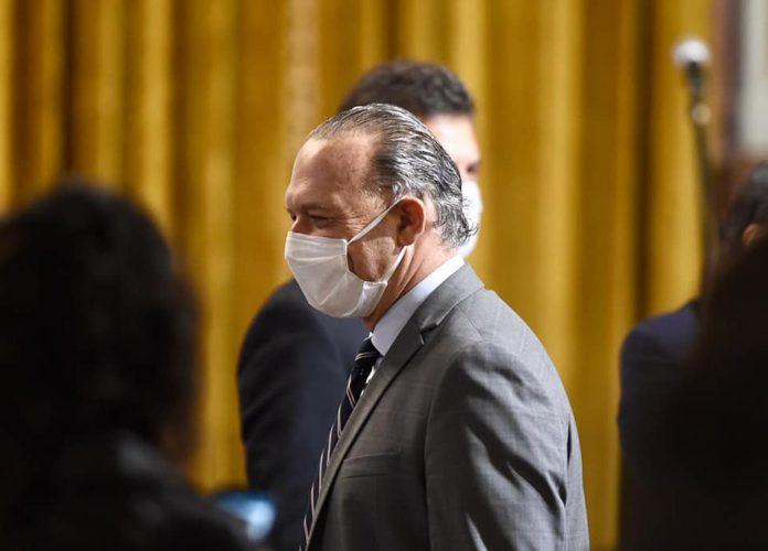 El ministro de Seguridad, Sergio Berni