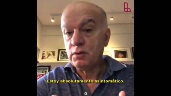 Grindetti publicó un video en que cuenta que dio positivo pero está