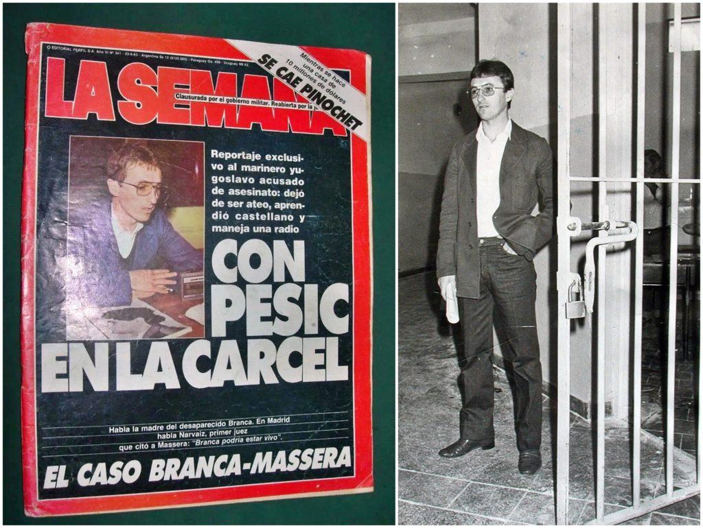 Milivoje Pesic en 1983, a punto de dejar la cárcel.