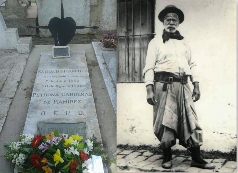 La tumba de Segundo Ramírez en el cementerio de San Antonio de Areco.