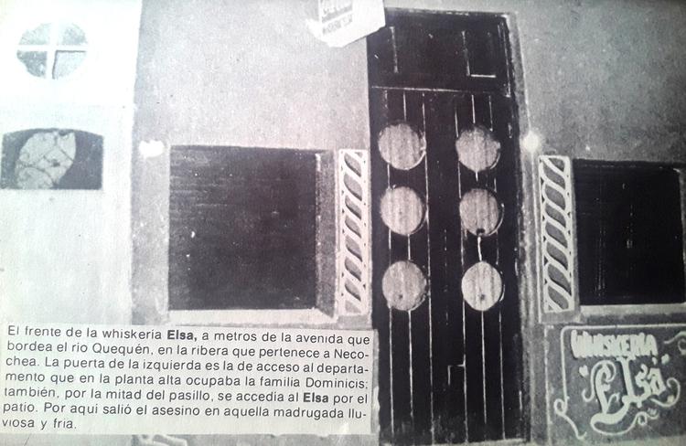 La whiskería Elsa, donde sucedió el crimen del 8 de mayo de 1978.