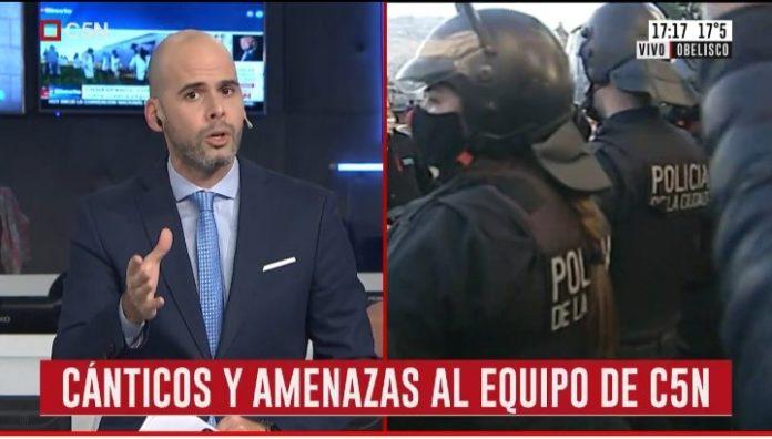Otra vez insultos y empujones contra periodistas que cubrían la marcha del #17A