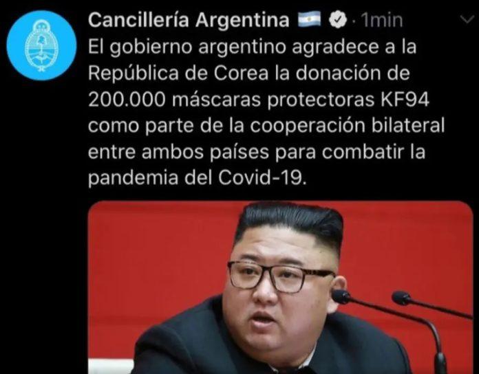 Polémica por publicación de Cancillería para Corea del Sur con foto errónea