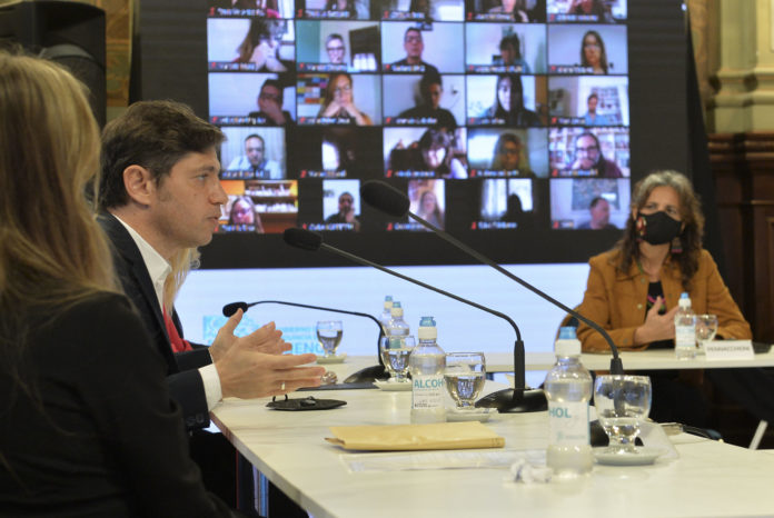 El gobernador Axel Kicillof, presentó esta mañana el programa