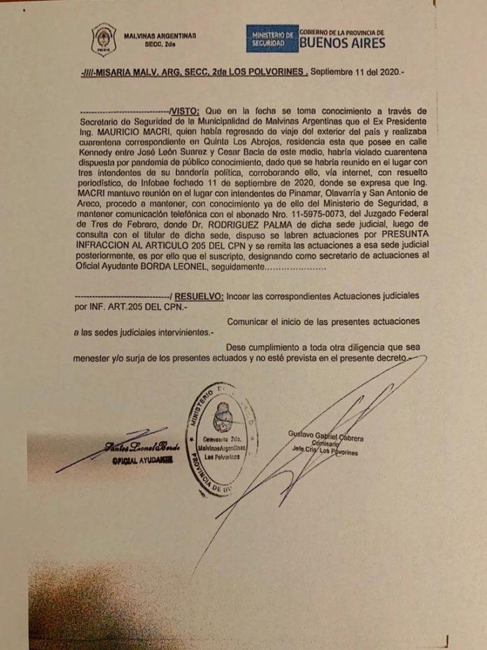 Allanamiento a Macri: difunden un documento que probaría que la denuncia la hizo un municipio del PJ