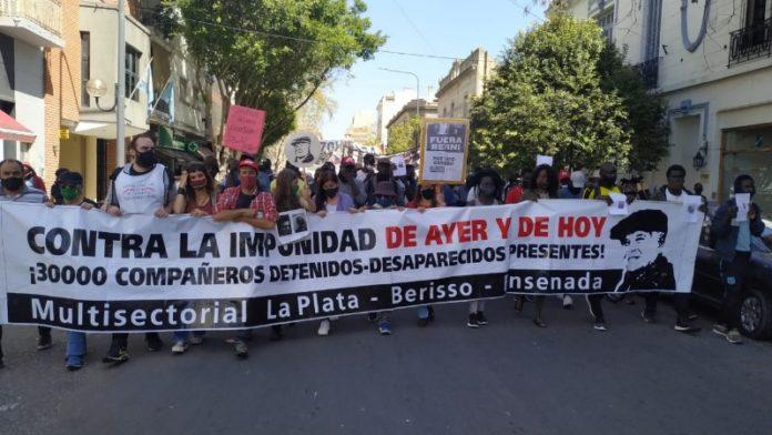 Pese a la cuarentena, organizaciones de DD.HH. marcharon a 14 años de la desaparición de López