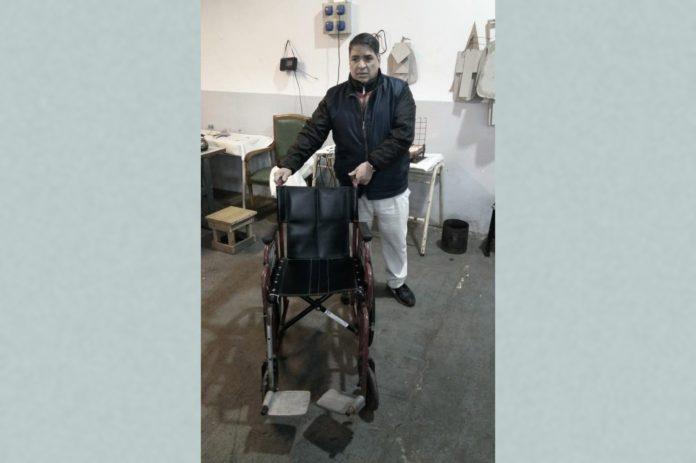 Una de las sillas de ruedas reparadas en la Unidad 1 de Lisandro Olmos. (Prensa SPB)
