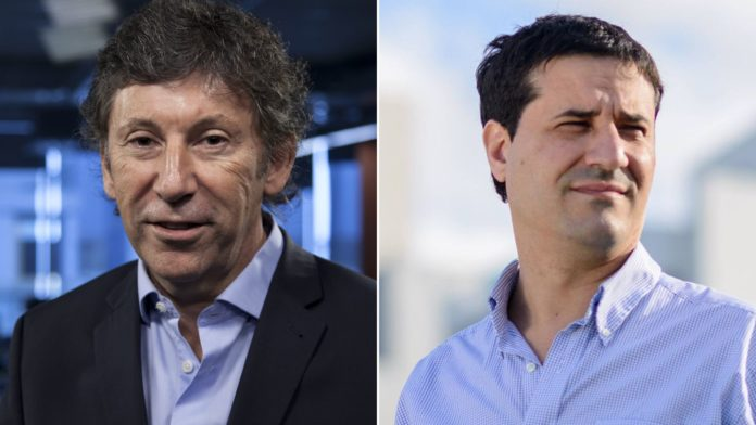 Gustavo Posse y Maximiliano Abad. (Archivo)