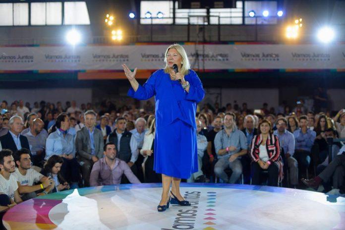La exdiputada y líder de la Coalición Cívica, Elisa Carrió,