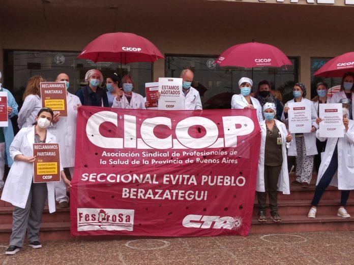 Cicop tuvo jornada de lucha con varias acciones en hospitales del conurbano