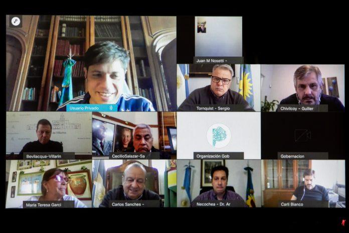 """Kicillof mantuvo una reunión virtual con los siete intendentes """"independientes"""""""