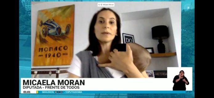 Pura ternura: una diputada bonaerense expuso con su bebé en brazos