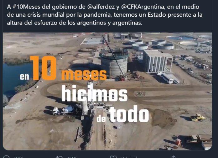 Una imagen del video que comentó el presidente Alberto Fernández. (Twitter)