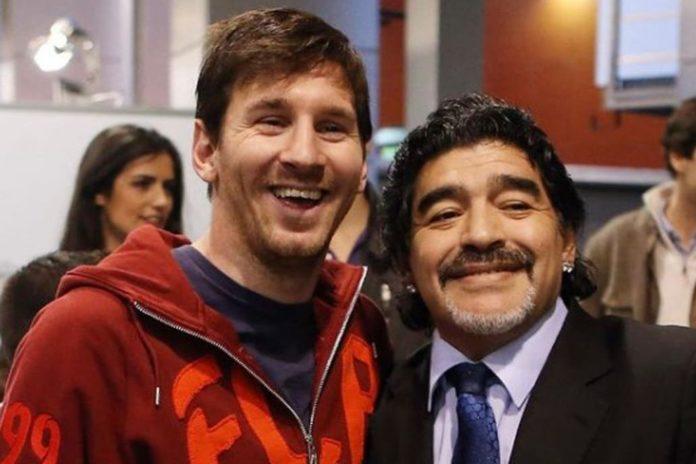 "La emotiva despedida de Messi a Maradona: ""Nos deja pero no se va"""