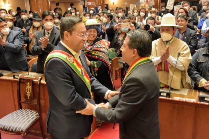 Luis Arce asumió como presidente constitucional de Bolivia