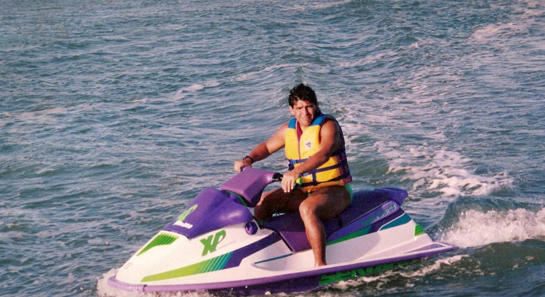 Diego Armando Maradona el 1 de febrero de 1992, el día que llegó a Marisol. (Carlos Keller)
