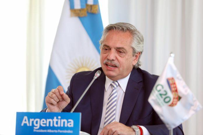Alberto Fernández participa desde la residencia oficial de Chapadmalal en la Cumbre del G20. (Presidencia)