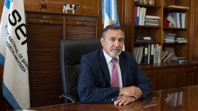 Carlos Paz afirmó que desde el Senasa se aseguraron en 2020 la provisión de alimentos y las exportaciones. (Prensa Senasa)