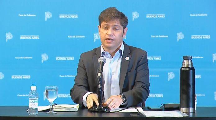El gobernador bonaerense anunció la nueva etapa de distanciamiento en la provincia de Buenos Aires. (Captura de video)
