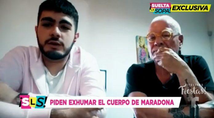 """Santiago Lara y su abogado José Núñez en diálogo con """"Suelta la sopa"""". (Captura de video)"""